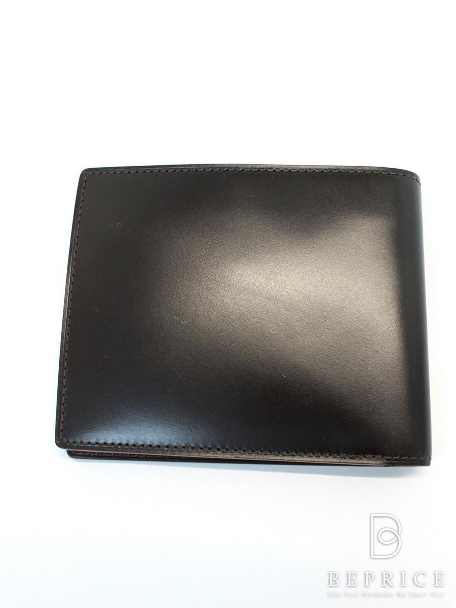 ガンゾ 財布 GANZO ガンゾ 財布 二つ折り コードバン 伊勢丹限定 スレあり