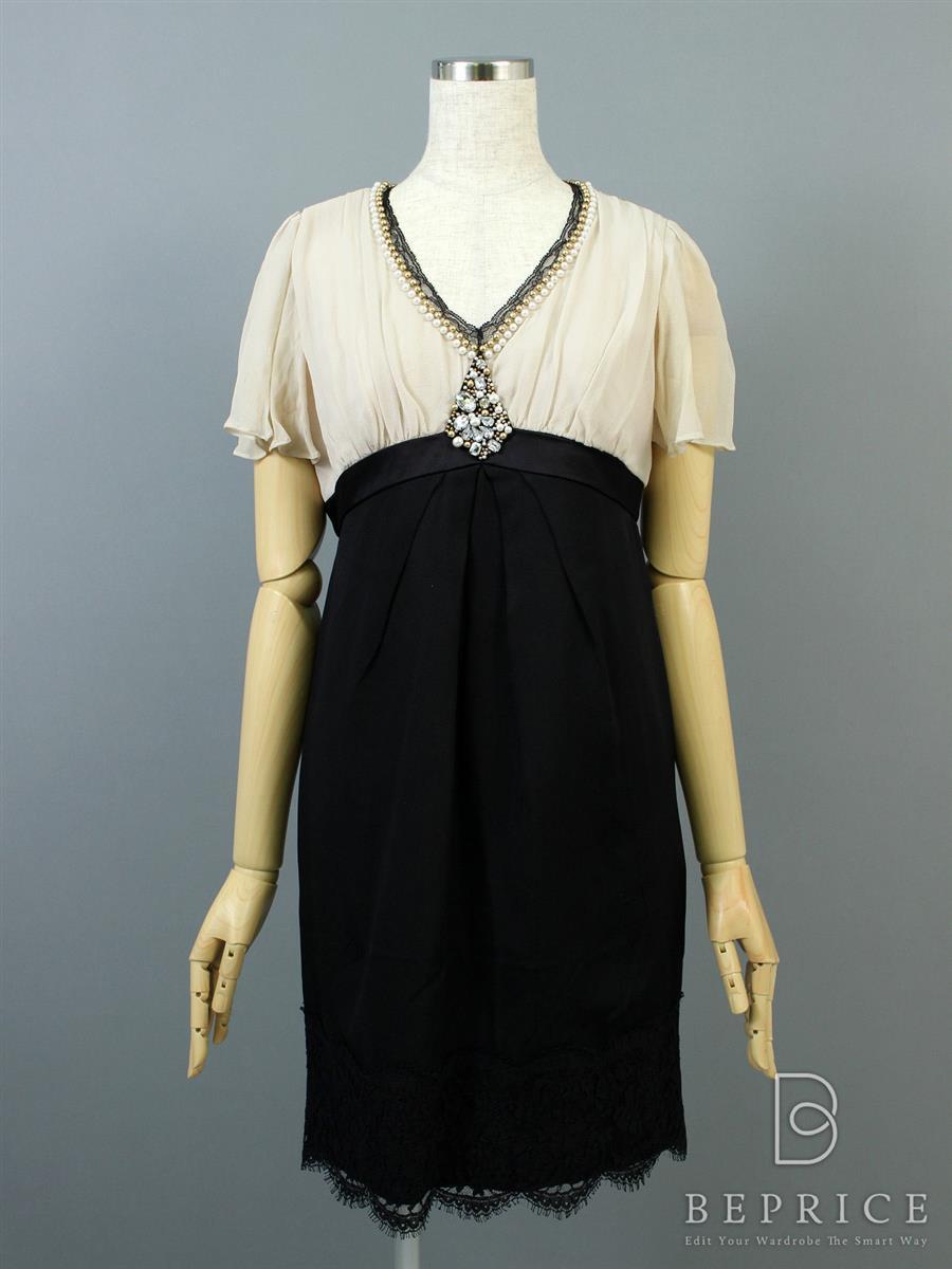 グレースコンチネンタル ワンピース ワンピース ドレス 半袖 薄脇シミあり