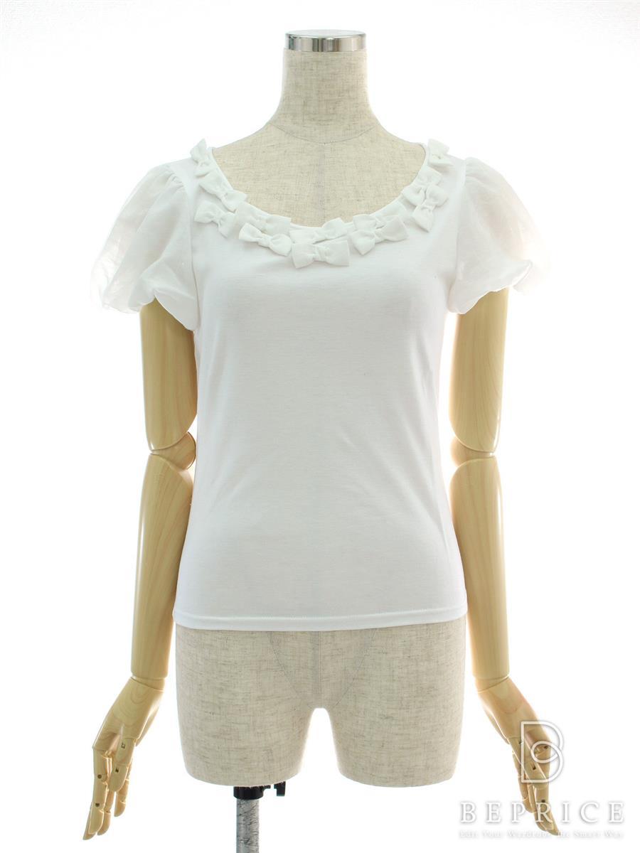 エムズグレイシー Tシャツ カットソー トップス 半袖 首リボン