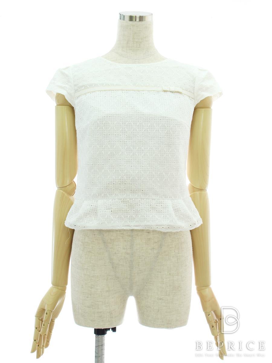 トッカ トップス 半袖 胸元リボン