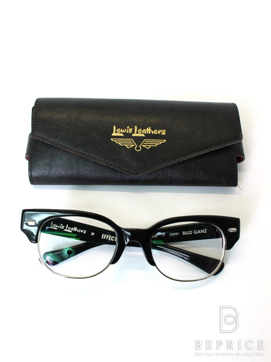エフェクター 眼鏡フレーム Lewis Leathersコラボ コンビネーション