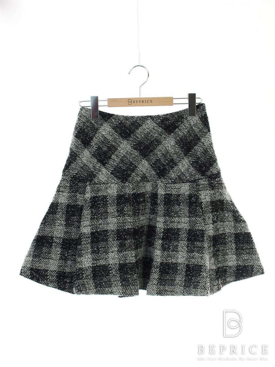 エムズグレイシー スカート スカート チェック柄 毛玉あり