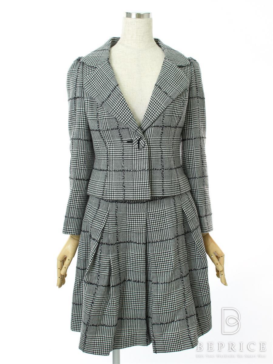 エムズグレイシー スカートスーツ スーツ スカート ジャケット チェック柄
