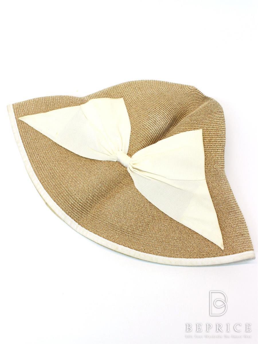 アシーナニューヨーク 麦わら帽子 Athena New York アシーナ ニューヨーク 帽子 麦わら ラフィアハット リボン 薄汚れあ