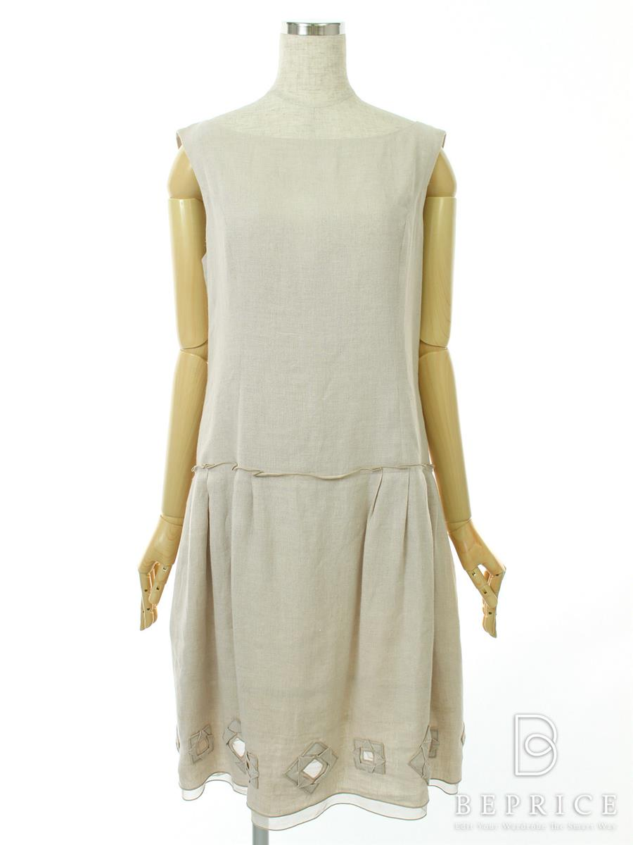 ナチュラルbyフォクシー ワンピース ワンピース KAZAGURUMA リネン スカート薄シミあり 29571