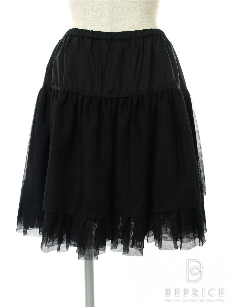 フォクシーブティック スカート パニエ ブラックブラック