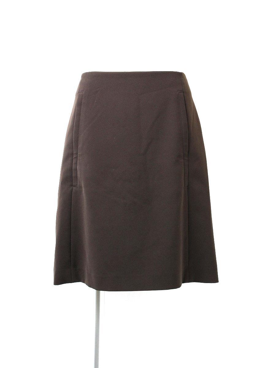 フォクシーニューヨーク スカート ストレッチ 裾の折り返しに糸ほつれあり