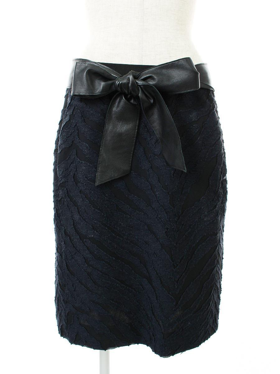 ドゥロワー スカート 刺繍