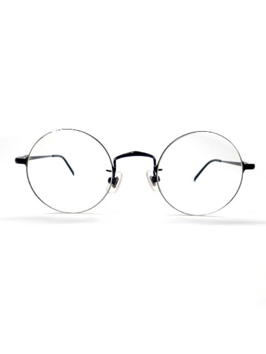 白山眼鏡店 丸眼鏡 メガネフレーム ブラック
