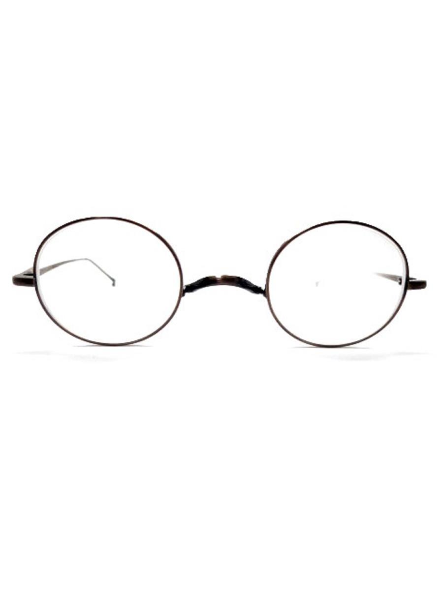 金子眼鏡 丸眼鏡 メガネフレーム ブラウン