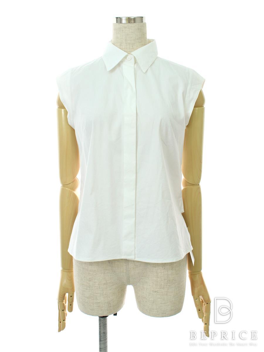 フォクシーブティック シャツ ブラウス トップス ブラウス ノースリーブ WhiteCampus 襟元に薄シミあり 35849