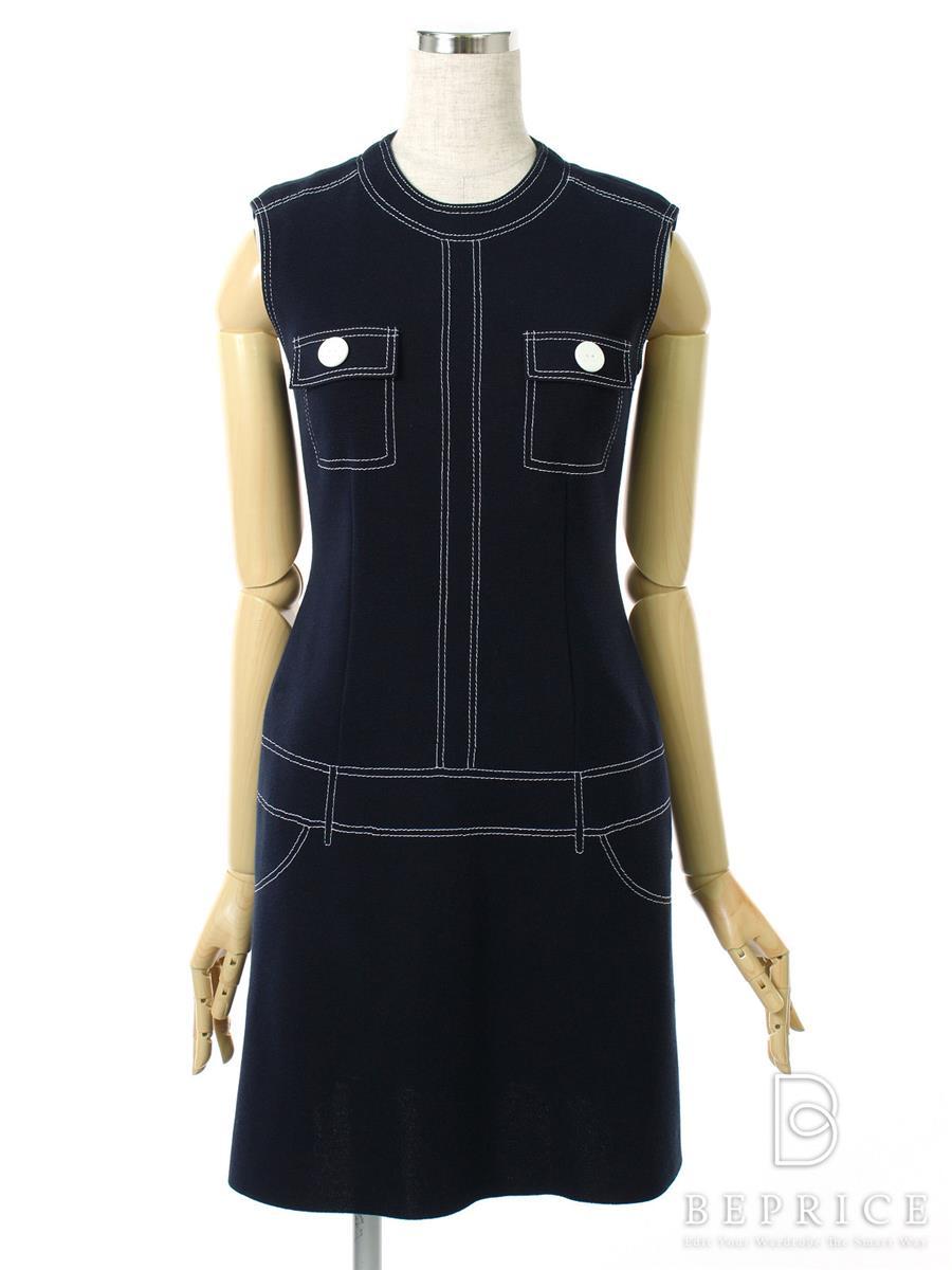 フォクシーニューヨーク ワンピース ストレッチドロウドレス