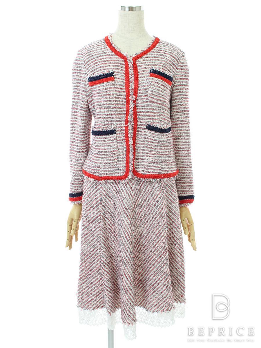 レジィーナロマンティコ REGINA ROMANTICO レジィーナロマンティコ セットアップ スーツ ツイード 糸ツレあり