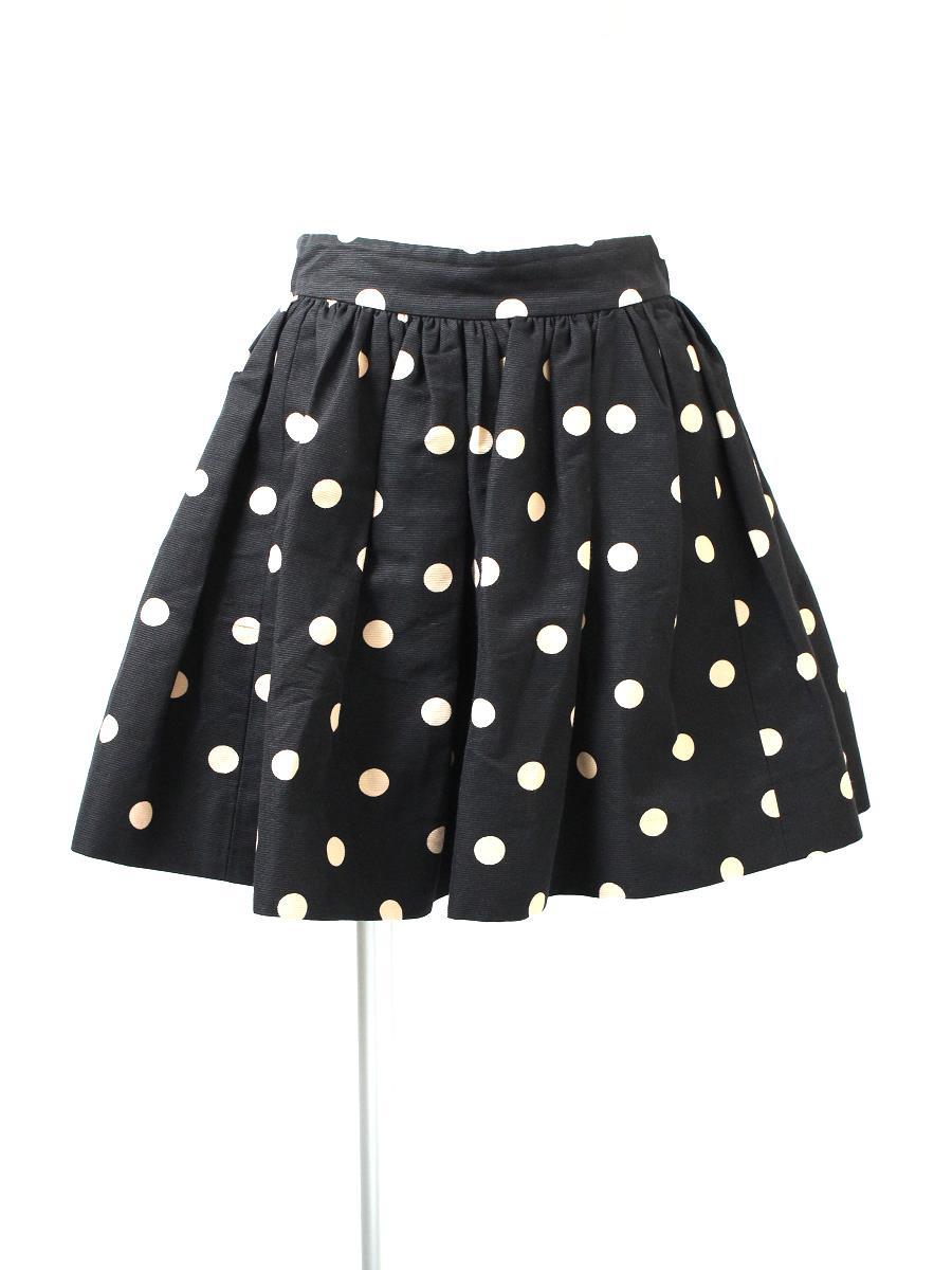 ケイトスペード スカート ドット柄 フレアー