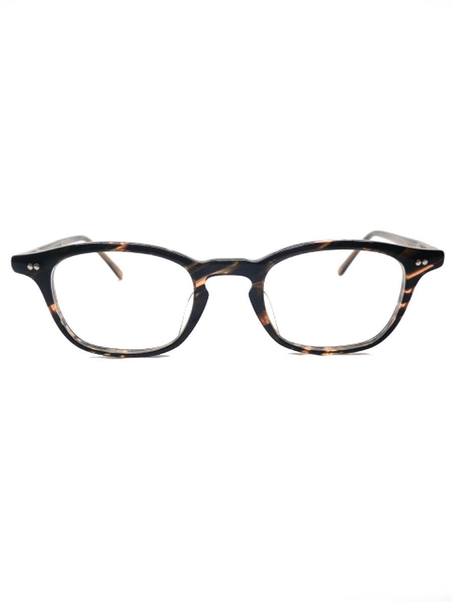 金子眼鏡 眼鏡 メガネフレーム ウェリントン デミ柄 ブラウン