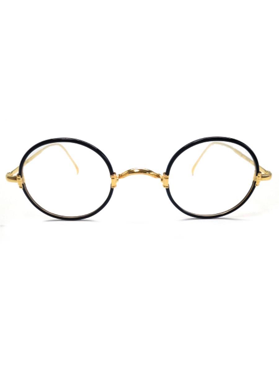 金子眼鏡 眼鏡 メガネフレーム 丸 ブラック