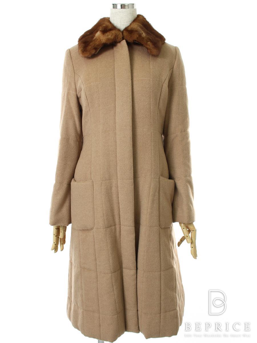 フォクシーブティック コート ロングコート ミンクファー付 19567