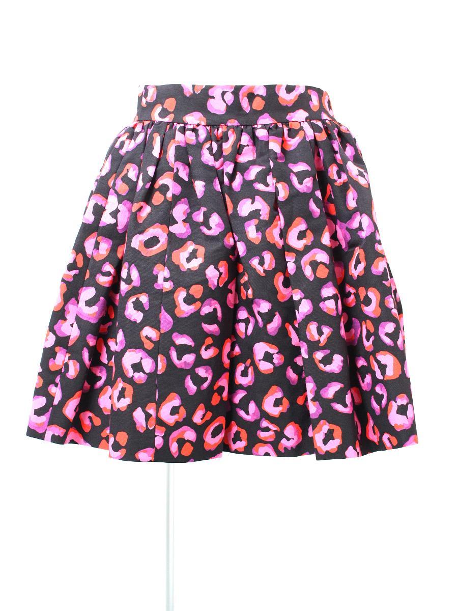 ケイトスペード スカート フレアー レオパード柄