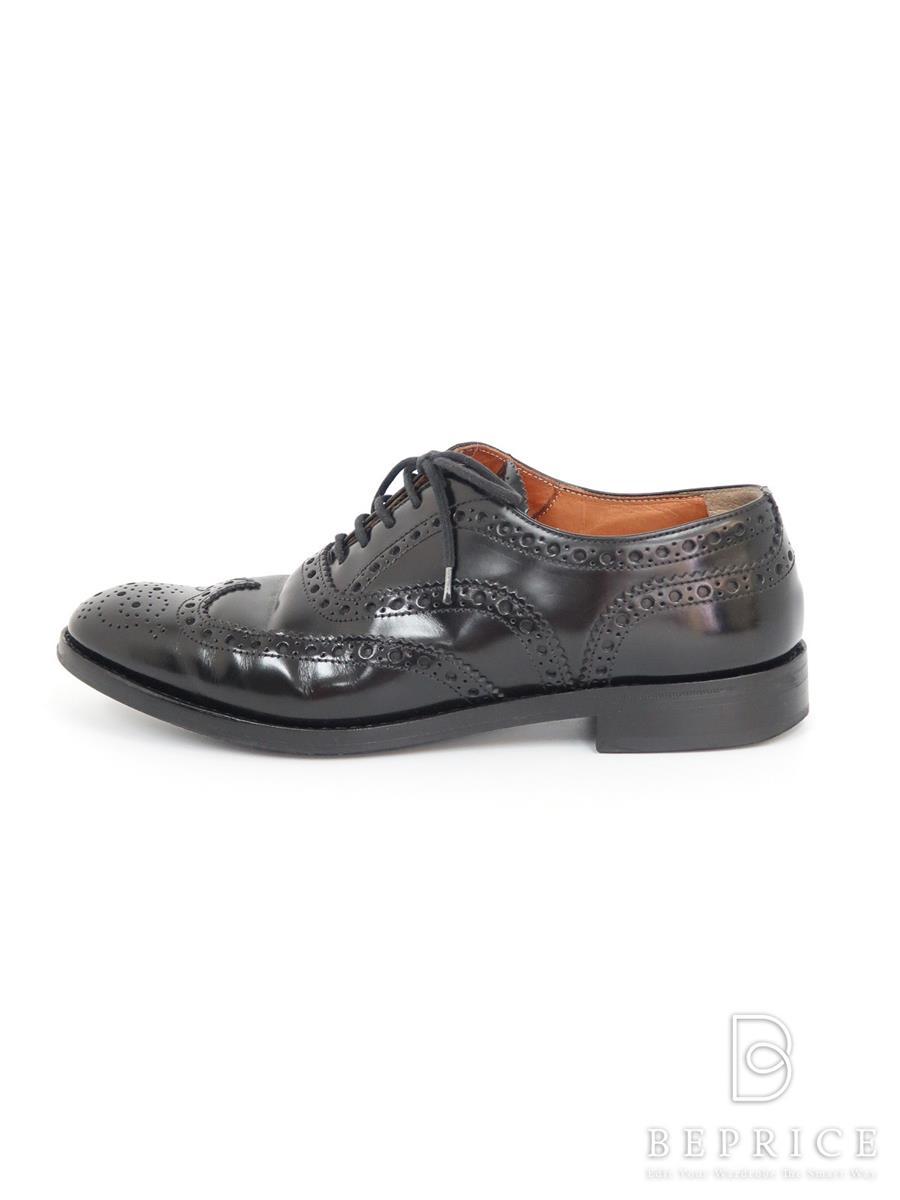 チャーチ 靴 シューズ ウィングチップ 汚れあり