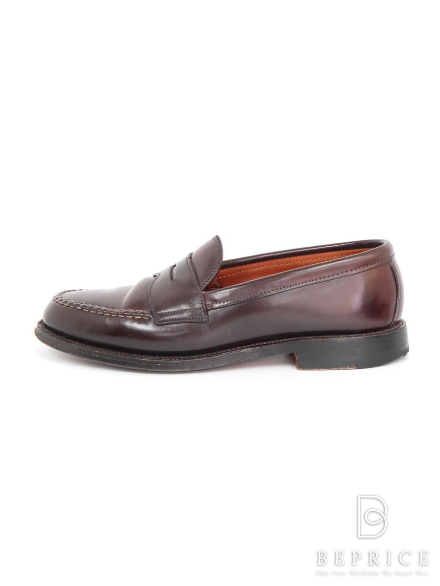 オールデン 靴 ペニーローファー コードバン ブラウン