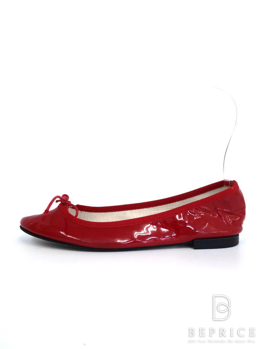 レペット 靴 フラット パンプス リボン スレ型付あり