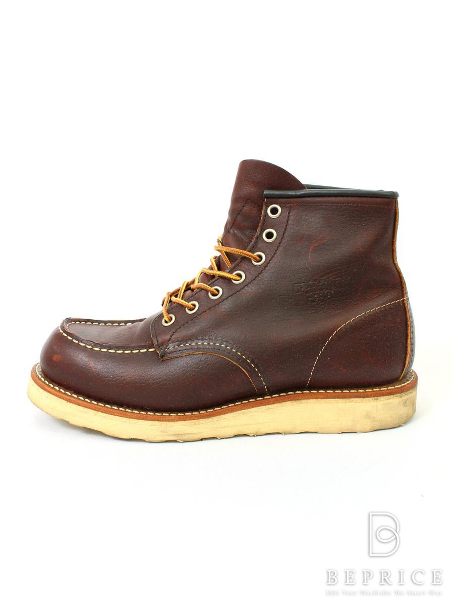 レッドウィング REDWING レッドウィング 靴 ブーツ モックトゥ スレ汚れあり