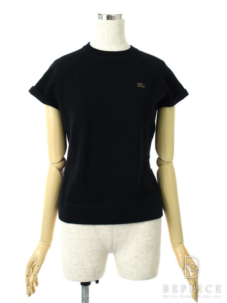バーバリーブルーレーベル 半袖 セーター カシミア混