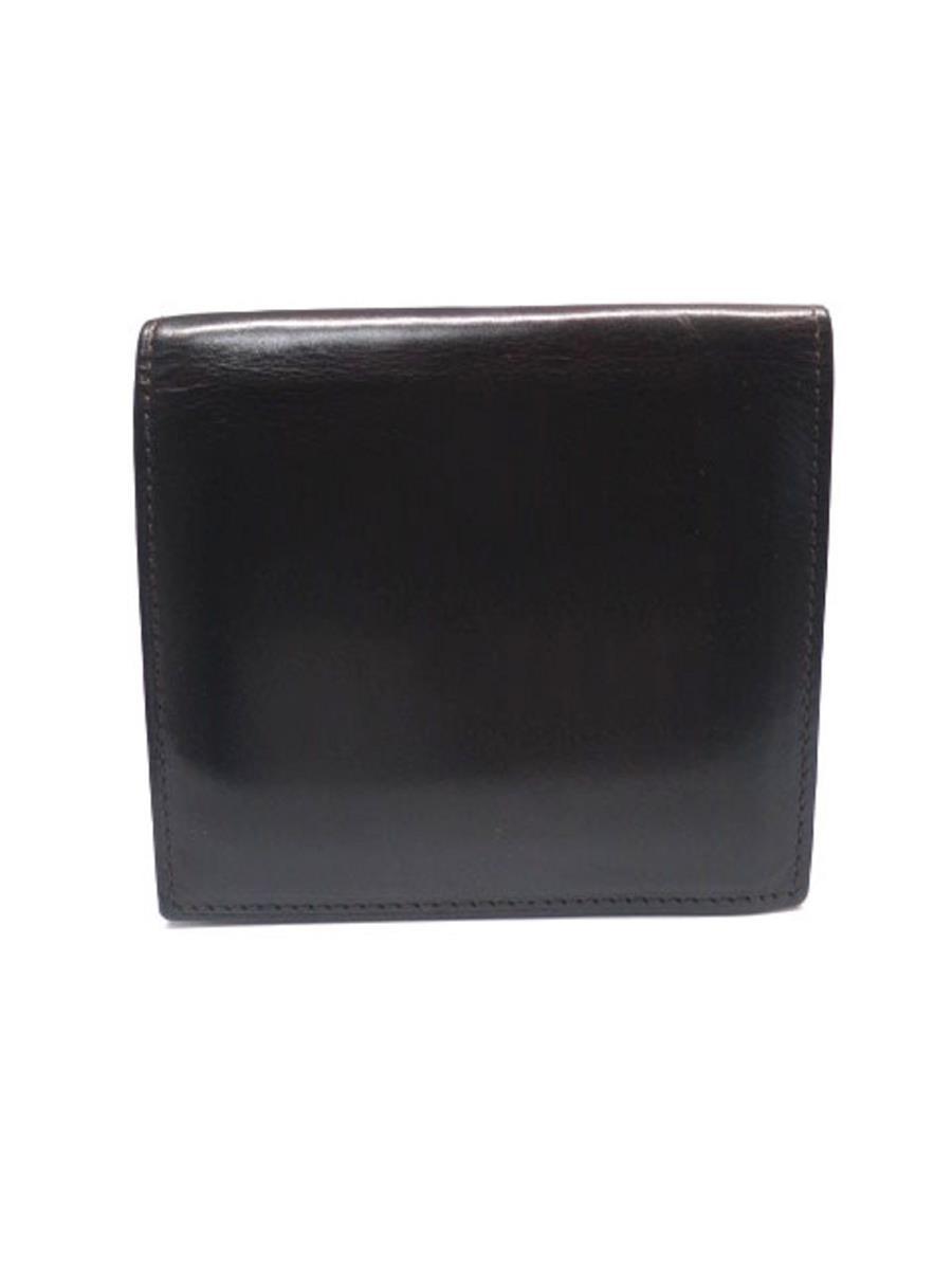 ガンゾ コードバン 57880 二つ折り財布 純札入 変色 シミあり