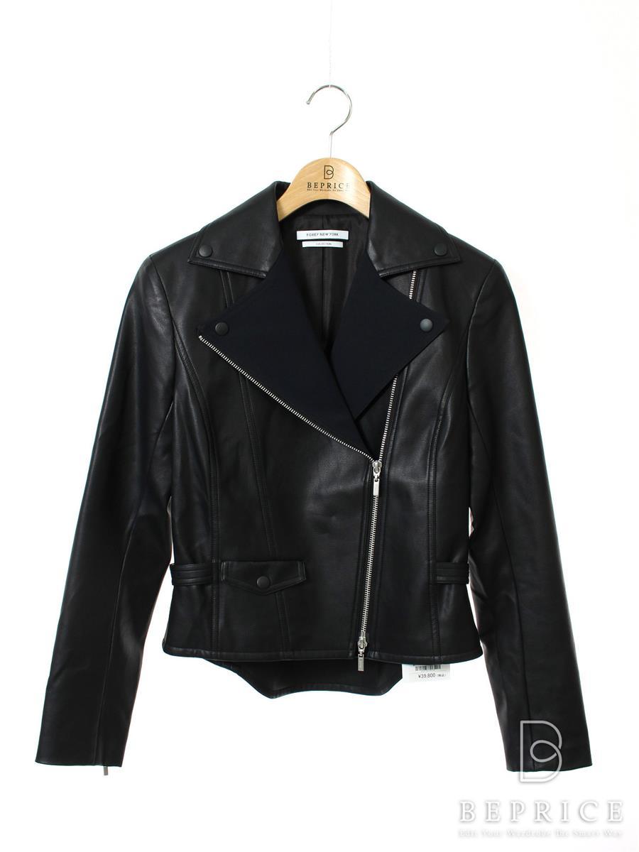 フォクシーニューヨーク Collection ジャケット ジャケット SCULPTED LEATHER JACKET COLLECTION 34160