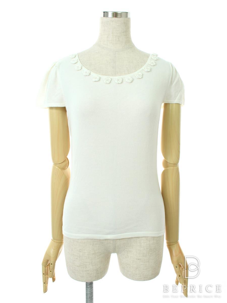 エムズグレイシー Tシャツ カットソー トップス 半袖 フラワー
