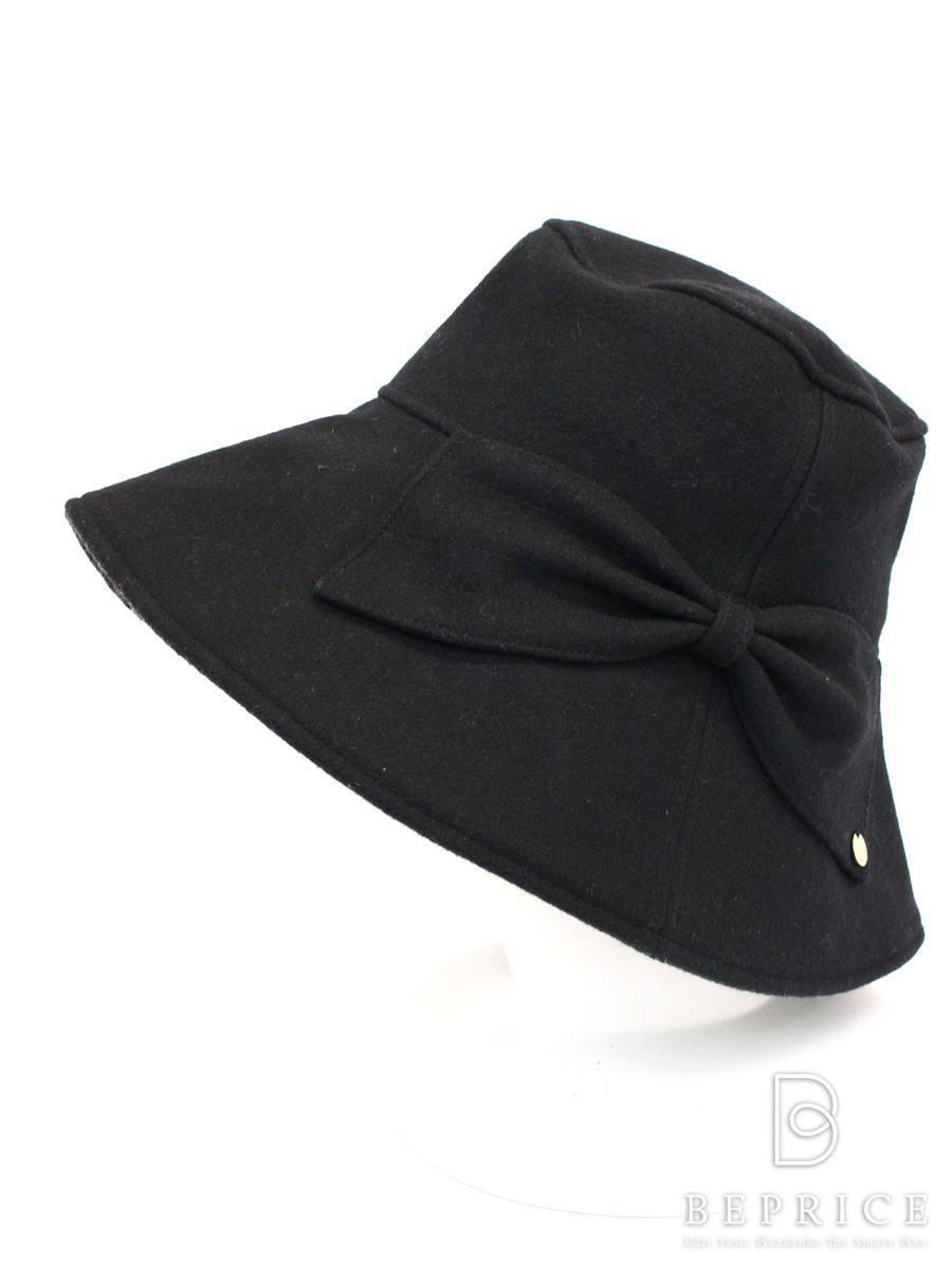 アシーナニューヨーク 帽子 リボン ウール混