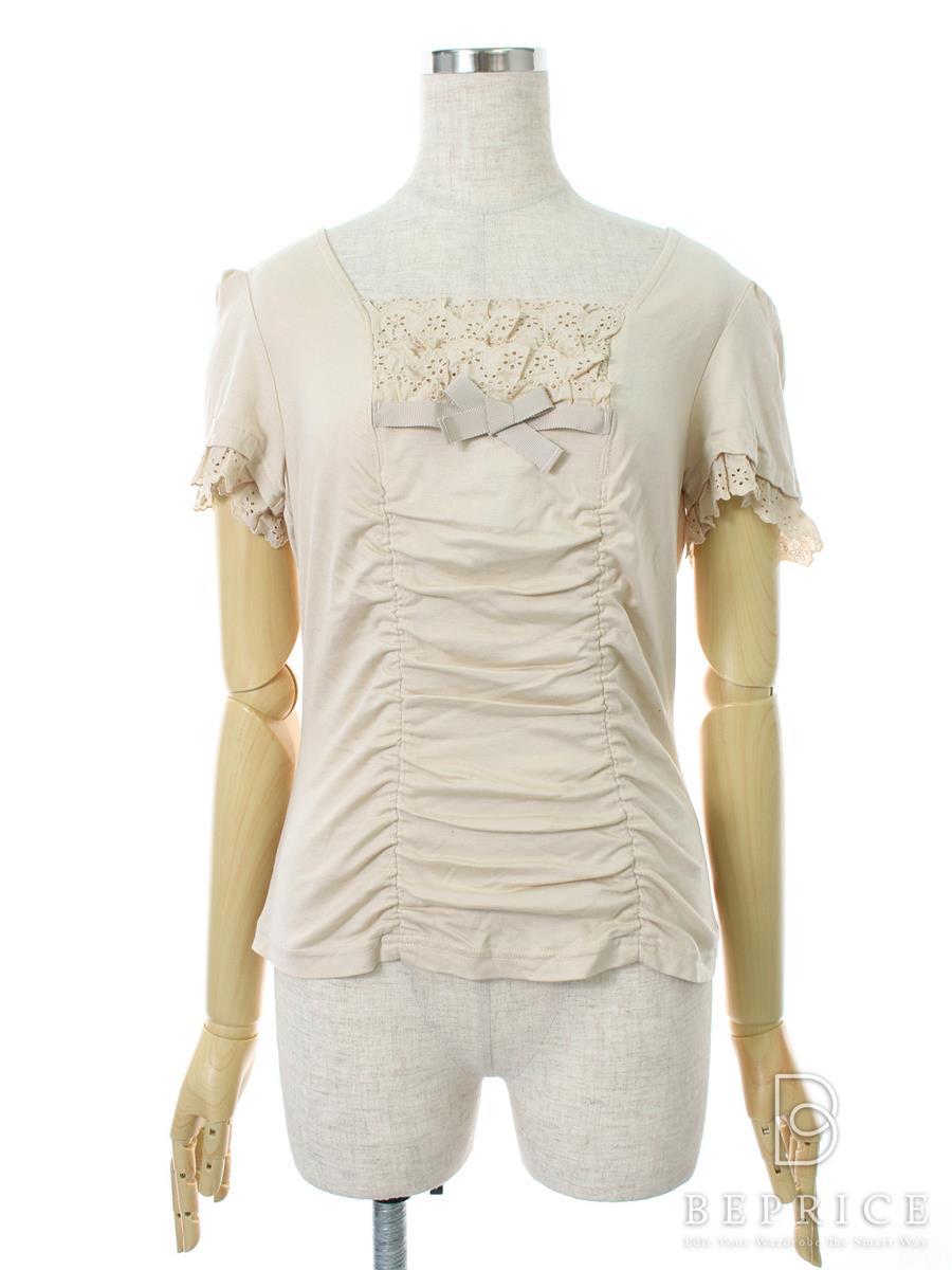 エムズグレイシー Tシャツ カットソー トップス 半袖 リボン フリル