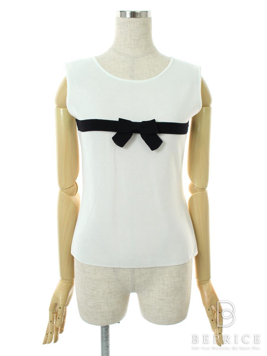 エムズグレイシー Tシャツ カットソー トップス ノースリ 胸リボン