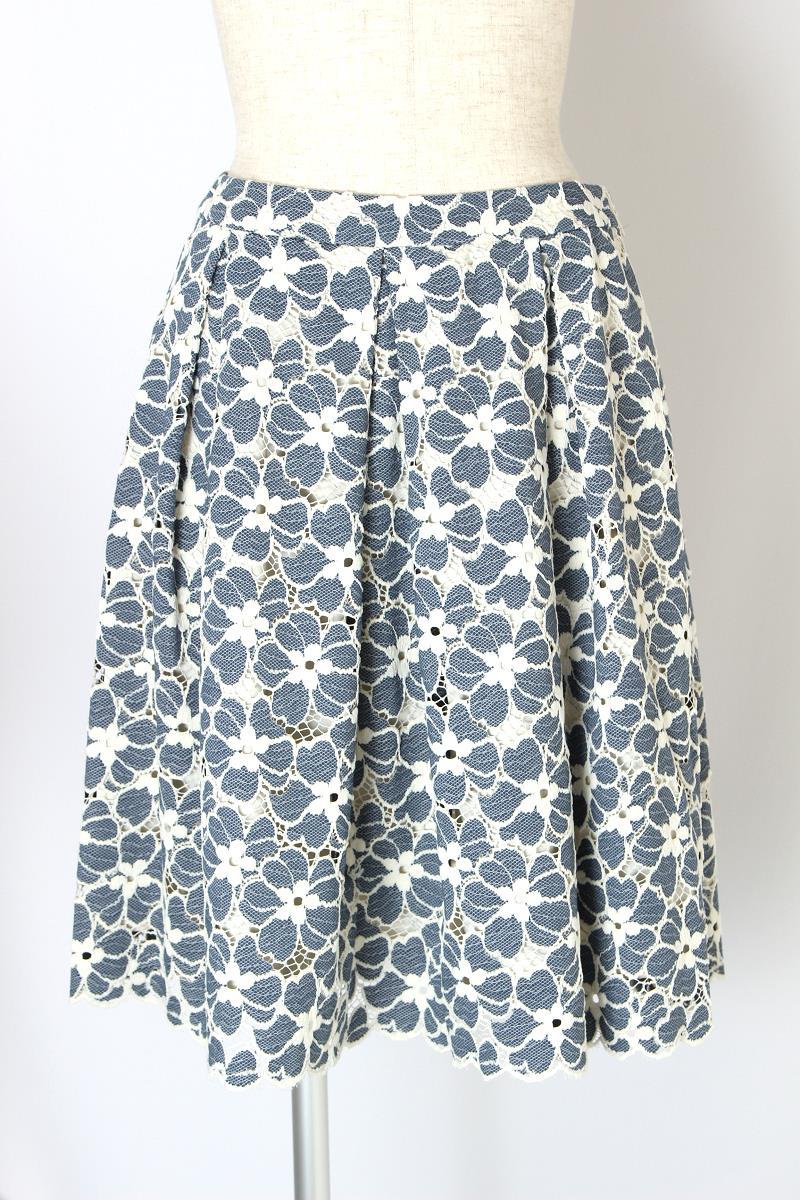 エムズグレイシー スカート 花柄 レース