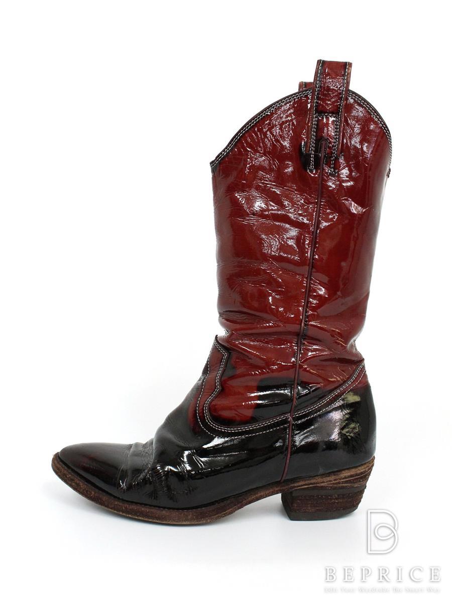 ミハラヤスヒロ 靴 ブーツ エナメル スレ小傷あり