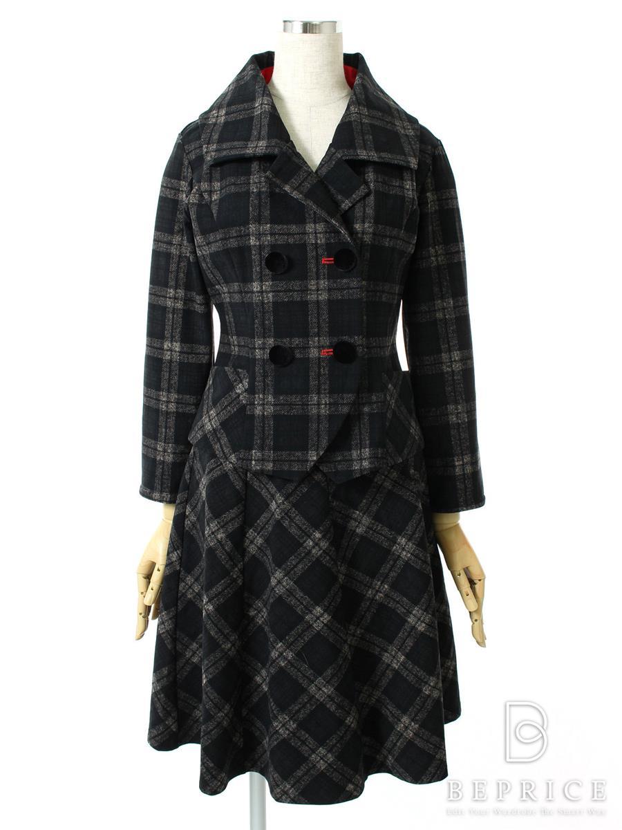 レジィーナロマンティコ スカートスーツ REGINA ROMANTICO レジィーナロマンティコ スーツ ジャケット スカート チェック柄