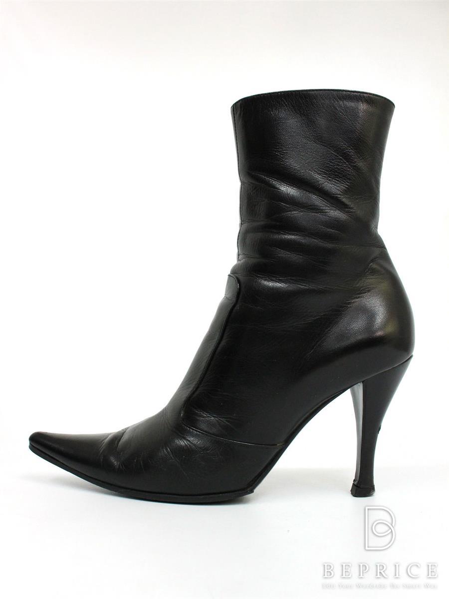 セルジオロッシ ブーツ ブーツ ショート ヒール レザー スレ・薄汚れ・シワ感あり