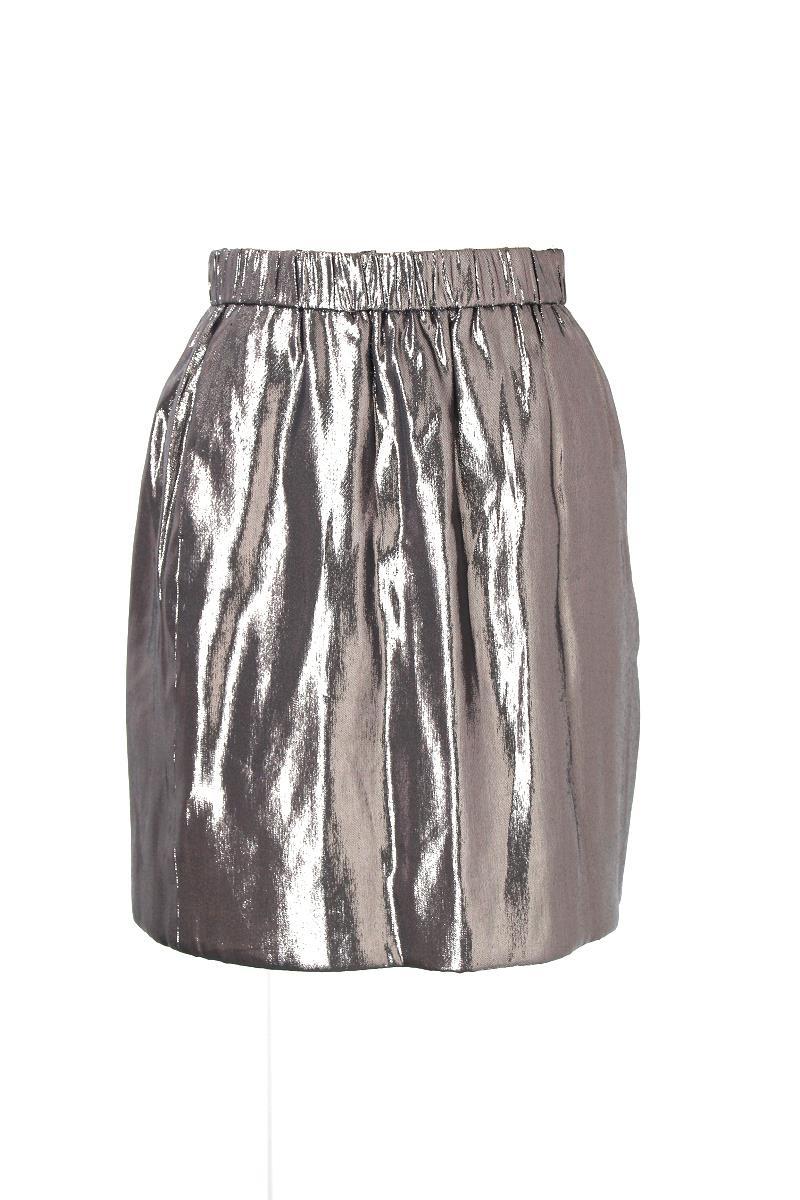 ドゥロワー スカート 光沢あり