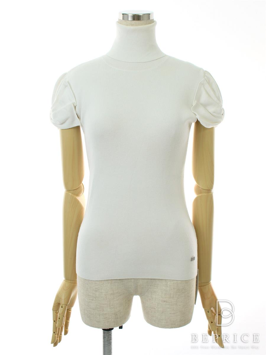 フォクシーブティック Tシャツ カットソー トップス リボンスリーブタートル 変色汚れあり 25840