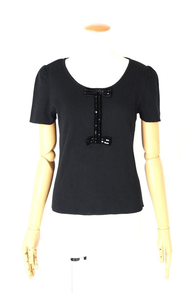 エムズグレイシー トップス 半袖 胸リボン
