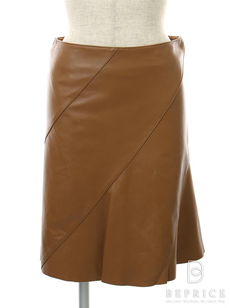 バーバリーブルーレーベル スカート スカート レザー 羊革