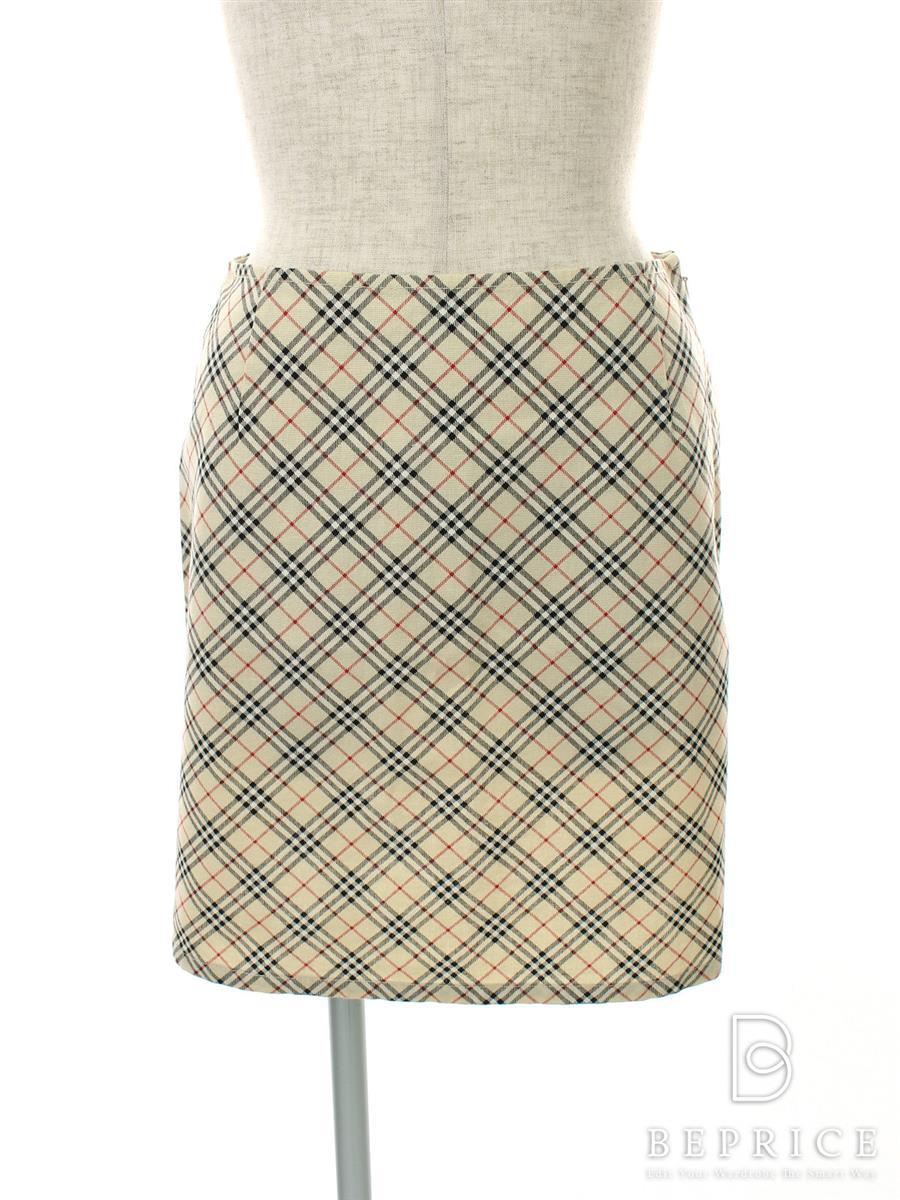 バーバリーブルーレーベル スカート スカート 台形 チェック柄