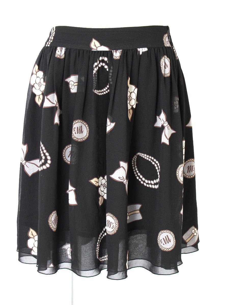 エムズグレイシー スカート スカート フレアー 小物柄