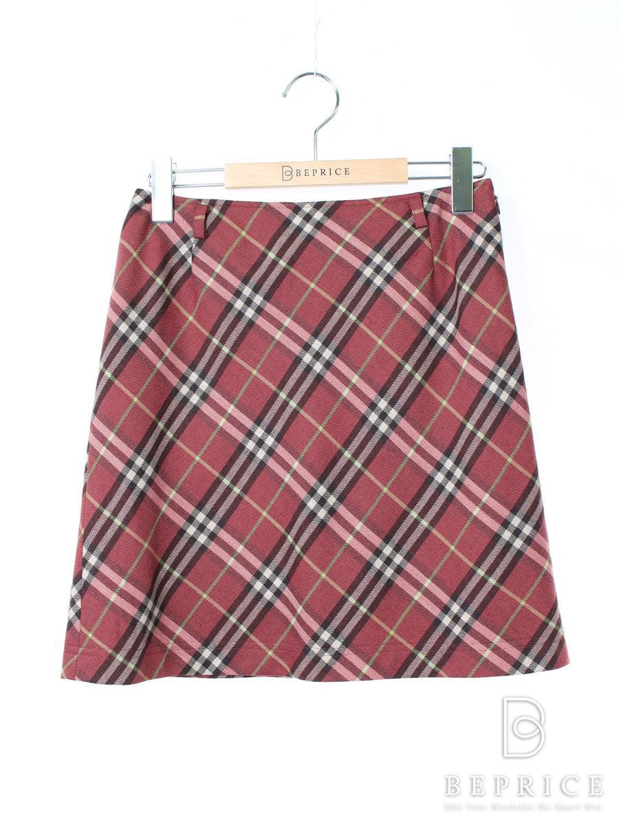 バーバリーブルーレーベル スカート スカート チェック柄