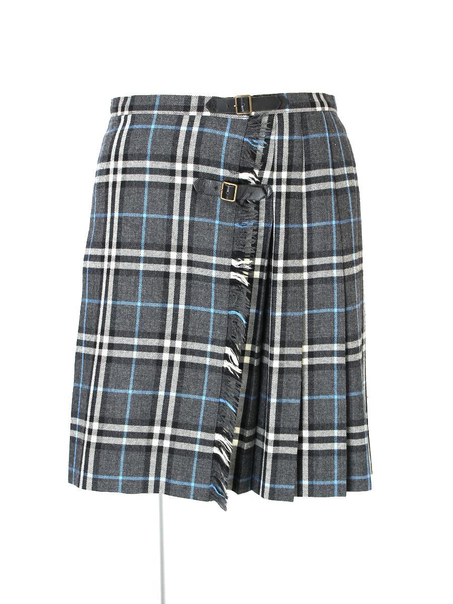 バーバリーブルーレーベル スカート スカート 巻き チェック柄
