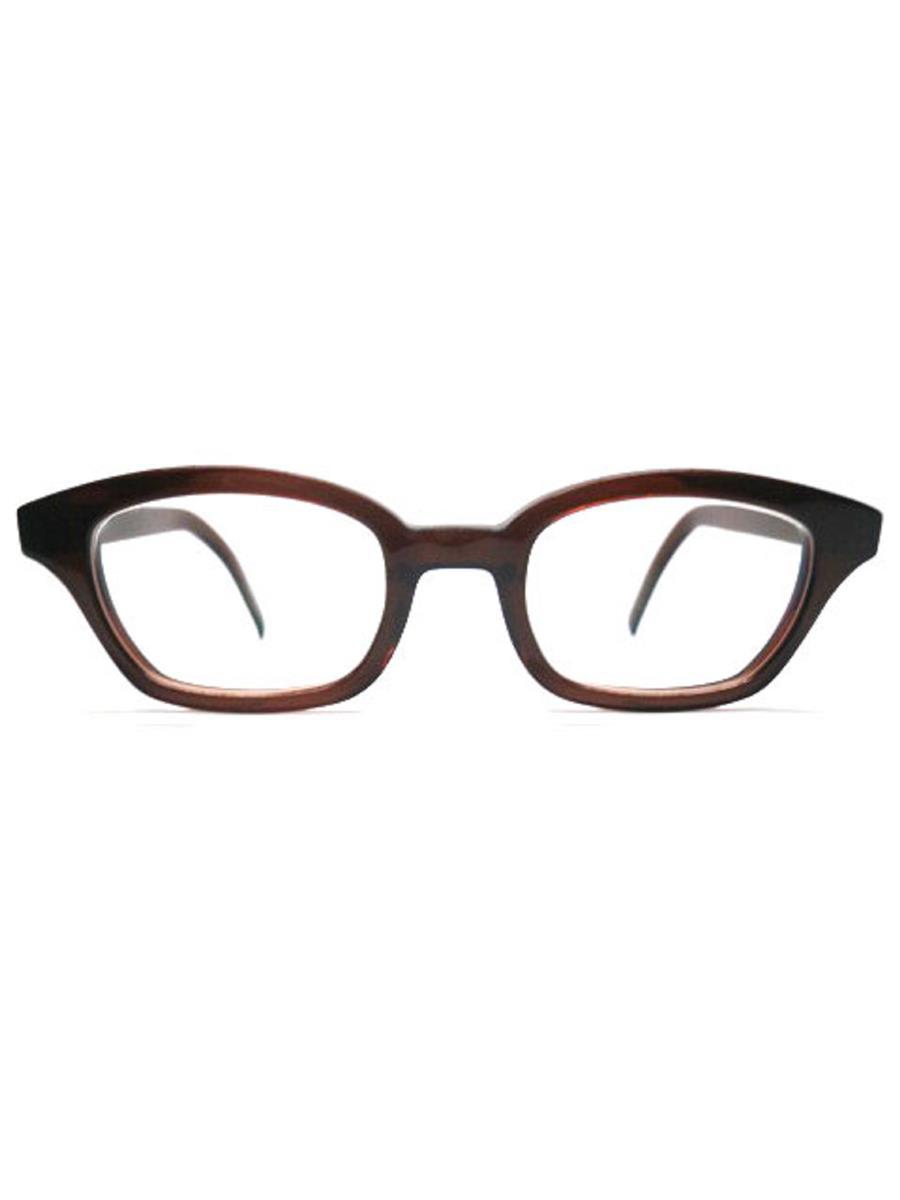 白山眼鏡店 眼鏡 メガネフレーム ウェリントン ブラウン