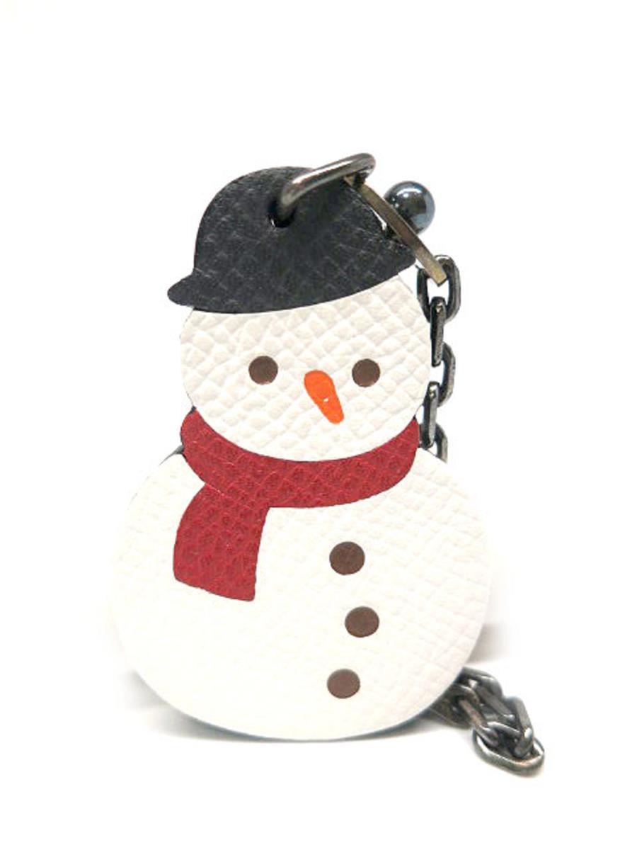 エルメス キーホルダー キーチェーン 雪だるま