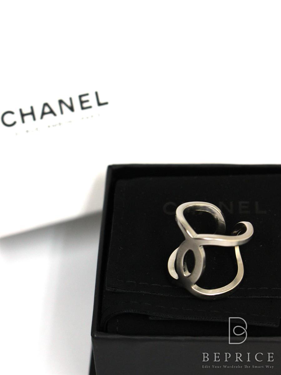 シャネル 石なし指輪 リング シルバー ロゴ