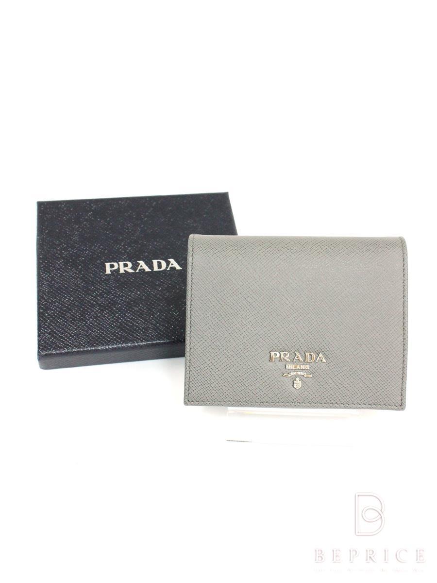 プラダ 財布 二つ折り SAFFIANO METAL