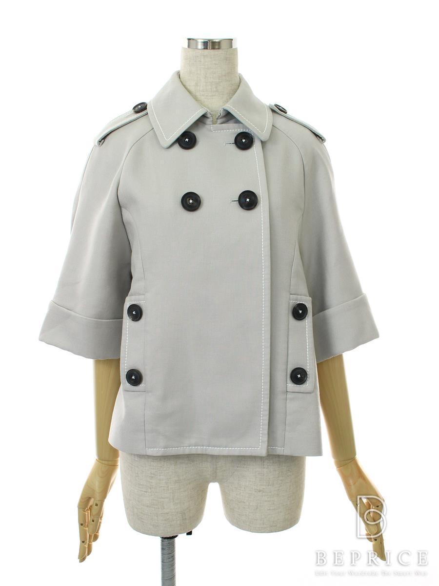 フォクシーニューヨーク Collection ジャケット Doubleface Cotton Crop Trench Collection